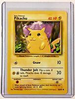 PIKACHU 58/102 Vintage ENGLISH Base Set ©1999 Pokemon MINT CONDITION Card