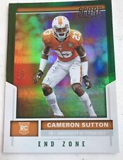 Cameron Sutton 2017 SCORE  End Zone Green #2/6 RC Tennessee