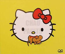 """Killer Kitty"" Hello Kitty Original Acrylic Canvas Painting 60cm x 50cm x 1.5cm"