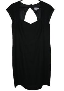 KATIES   Women's Sleeveless Pencil Dress   Lace Shoulders & Open Back   Size 16