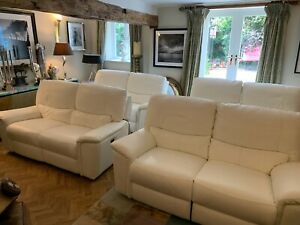 ex showhome HTL 9 seater white leather electric home cinema seating rrp £12450