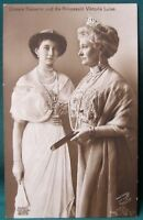 Kaiser Wilhelm II's WIfe & Daughter  antique 1913 German RPPC