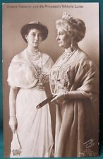 Kaiser Wilhelm II's WIfe & Daughter  antique 1913 German RPPC