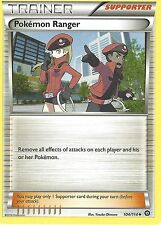 POKEMON XY STEAM SIEGE TRAINER CARD - POKEMON RANGER 104/114
