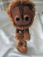 Vintage African Spirit Dancer Doll Congo Pende Raffia Munjani spirit hand woven