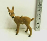 """Deer Doe Spotted With Brown Faux Fur Christmas Ornament  6"""" NEW"""