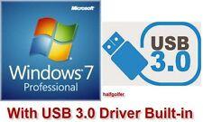 Microsoft Windows 7 Professional Pro ISO Image w/ USB3.0 NVMe SSD mSATA Driver
