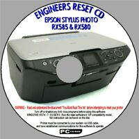 EPSON RX585 & RX580 WASTE INK PAD FULL ERROR ENGINEER SERVICE RESET MULTI-USE CD