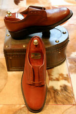BNWOB - Vintage Men's CHEANEY Lace-Up Tan Leather Derby's - 9EE UK
