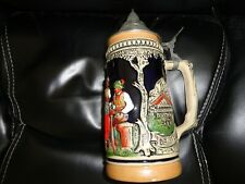 "gerz Handarbeit West Germany Lidded Stein 9 1/2"" Tall with lid"