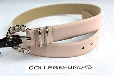 STEVE MADDEN Woman's Belt Size Medium Pink Chain Buckle Retail $34
