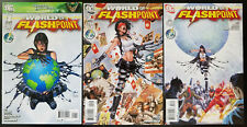 The World of Flashpoint #1-3 Complete Set (2011, DC) 2 Traci 13 Madame Xanadu