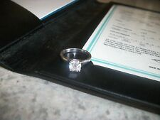 Tiffany & Company 1.07ct. Lucida Platinum Diamond Solitaire Engagement Ring Sz 5