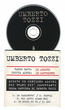 Cd PROMO UMBERTO TOZZI Compilation 5 tracks - cds singolo single 1997 Radio