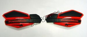 Powermadd Star Series Handguards Hand Guards Black/Red Honda TRX 250 400 450