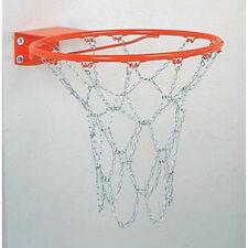 """Markwort HEAVY DUTY Rust Resistant Metal Steel CHAIN BASKETBALL NET w/ """"S"""" Hooks"""