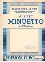 Alessandro Longo: Minuetto Für Klavier (Von L'Arlesienne Von Bizet) - Curci