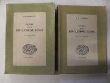 CHAMBERLIN - STORIA DELLA RIVOLUZIONE RUSSA VOLUMI 1 & 2 - ED. EINAUDI - 1945