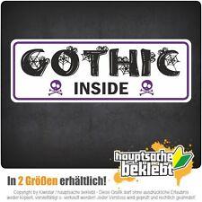 Gothic inside - csd0186 Autoaufkleber Sticker Aufkleber KFZ Flagge