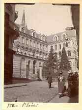 France, Angers (Maine et Loire), L'Evêché  Vintage citrate print.  Tirage