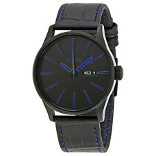 Nixon Sentry Black Dial Mens Leather Watch A1052153