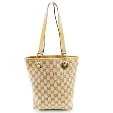 Auth Gucci Tote Bag GGpattern beige PVC x leather Auth  T17181