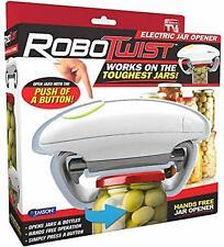 Robo Twist Electric Jar Opener - Hands Free - Jars - Bottles - Press & Works