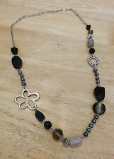 Stunning Statement necklace Multi Beads/Agate Stones Funky