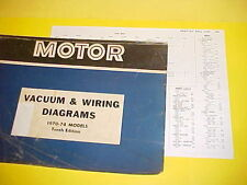 1970 1971 1972 1973 1974 PONTIAC GRAND PRIX GRANDVILLE VACUUM+WIRING DIAGRAMS