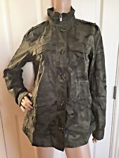 Buffalo David Bitton Green  Camouflage Army Coat Size Medium New with Tags