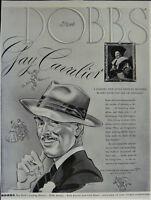 Vintage 1940 Dobbs Hattery NYC Mens Hat Ad Gay Cavalier