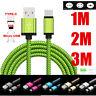 Schnelle geflochtene 1/2 / 3M USB C 3.1 Data Sync Ladekabel für Typ C Micro USB