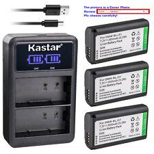 Kastar Battery LCD Dual Charger for DMW-BLJ31 Panasonic LUMIX S1R Digital Camera