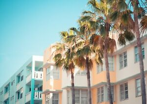 A3| South Beach Miami Poster Size A3 America Florida Holiday Poster Gift #16517