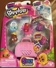 Pretend Play set Gifts for Girl Kids Shopkins 5 Pack Series 4 Collectible Toys