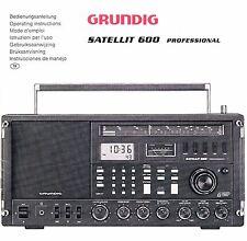 Manual de instrucciones Grundig satellit 600
