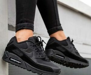 New NIKE Air Max 90 Essential Athletic Sneakers Mens triple black all sizes
