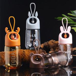 480ml Tragbare Cartoon Kinder Trinken Tasse Sport Wasser Flasche Transparent E