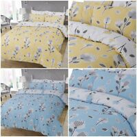Geo Floral Duvet Cover with Pillowcases Quilt Bedding Set Single Double King