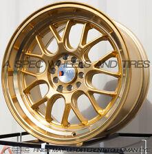 17X8.5 F1R F21 WHEEL 5x100/114.3 +35 GOLD RIM FITS SUBARU IMPREZA WRX MAZDA RX8