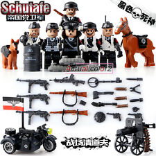 6pcs/lot World War 2 Military Army German  Army Gun Weapons Building block toys