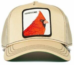 Goorin Bros. Animal Farm Trucker Snapback Baseball Hat Bird Khaki Handsome Boy