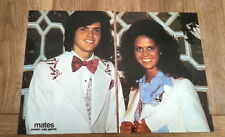 OSMONDS Donny & Marie put 2 pages together to make magazine Poster 10x16 inches