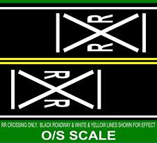HIGHWAY STREET RAILROAD CROSSING LINES 1/48 O SCALE TRAIN LAYOUT GARDEN