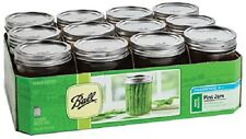 Ball 66000 Canning 16oz. Wide Mouth Glass Jars - Set of 12