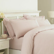 Great Knot Egyptian Stripped Cotton Double Duvet Cover Set in Cambridge Pink