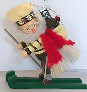 ❤️Kurt Adler Hershey's Collector Series Elf Skier Skiing Skis 🎄1991 Ornament❤️