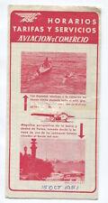 AVIACO TIMETABLE OCTOBER 1951 HORARIOS SPAIN