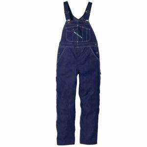 Key Bib Overall Blue Denim Hi-back Zip Fly Indigo Mens 48 50 52 54 56 58 60 62