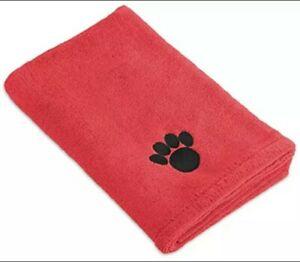 "DII Bone Dry Microfiber Dog Bath Towel with Embroidered Paw Print - 44x27.5"" -"